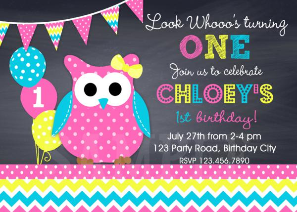 printable birthday invitations,girls rainbow owl birthday party, Birthday invitations