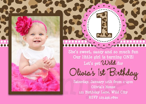 Animal Print First Birthday Party Supplies Party Supplies – Animal Print Party Invitations