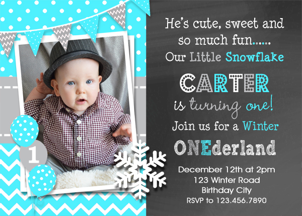 first birthday invites – gangcraft, Birthday invitations