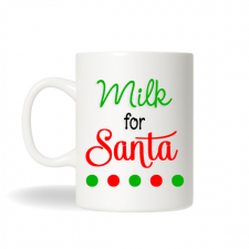 Milk For Santa Cup, Santa Milk and Cookies, Milk Mug, Christmas Office Gifts , Personalized Coffee Mug, Personalized Christmas Gift,