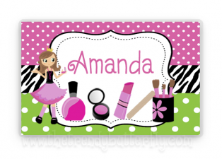 Spa Glamour Personalized Placemat, Make Up , Nail Polish Place Mat, Girls Personalized Gift, Childrens Placemats, Kids Personalized Gifts