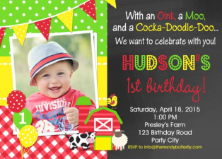 Printable Boy Birthday Invitation