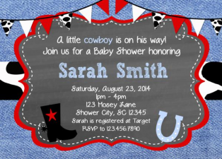 Print Your Own Baby Shower Invites