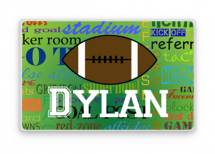 Personalized Placemat, Kids Personalized Place Mat, Boys Football Personalized Gift, Childrens Placemats, Kids Personalized Gifts