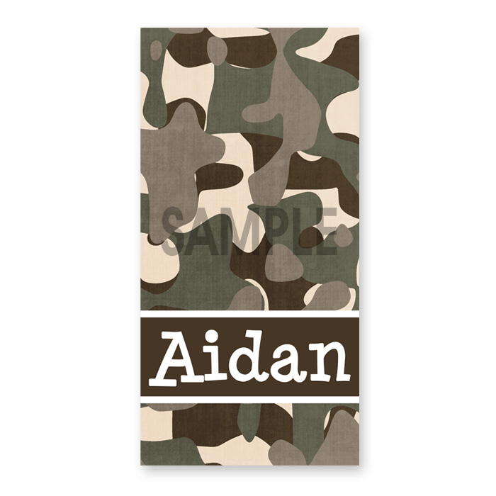 Personalised Beach Towel Pegs: Personalized Beach Towel For Kids, Boys Camoflauge Towel