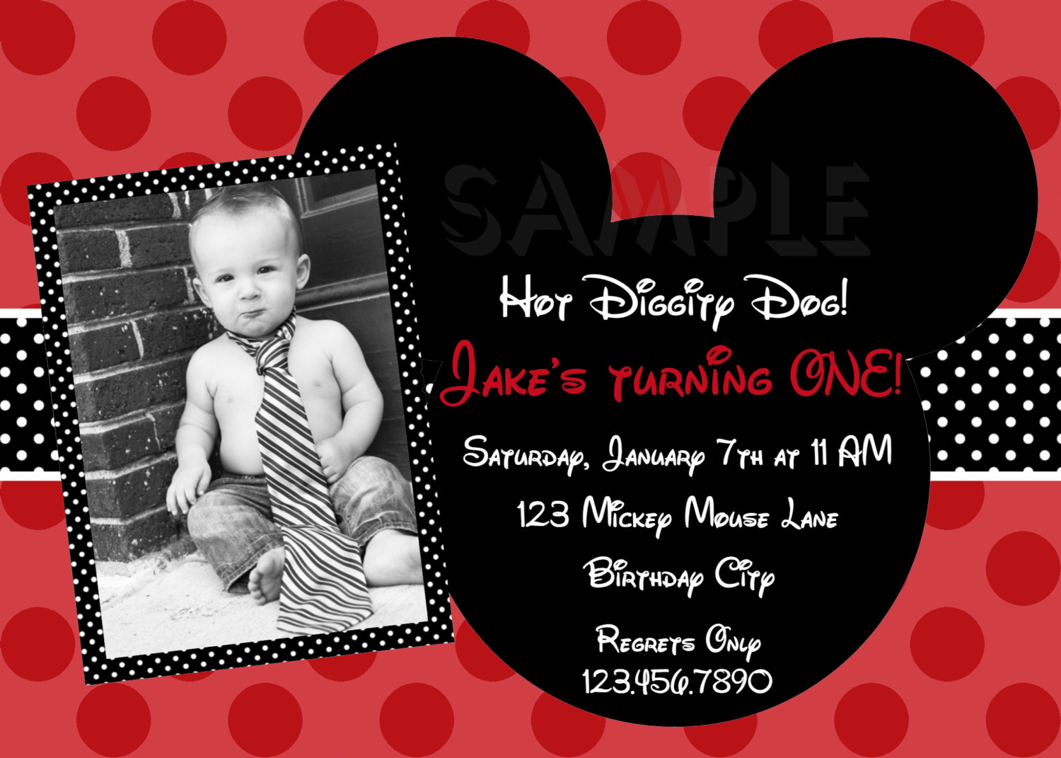 Printable Birthday Invitations, Boys Mickey Mouse Party ...