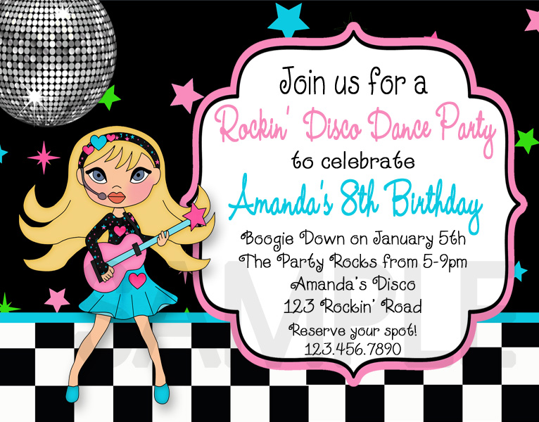 Disco Party Invitation Templates Party Invitations Wording Disco – 80s Party Invitation Wording