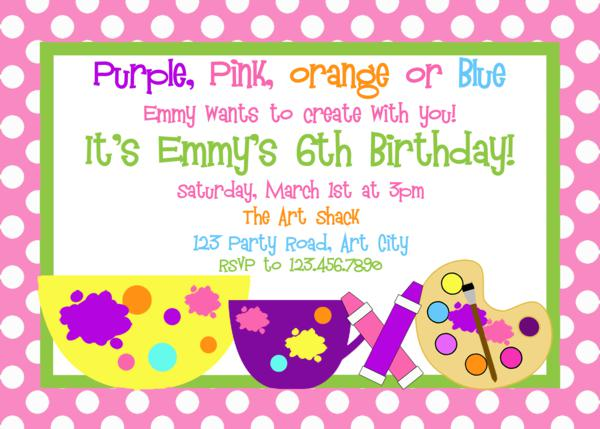 Art party invitation art birthday invitation painting party girls printable birthday invites stopboris Choice Image
