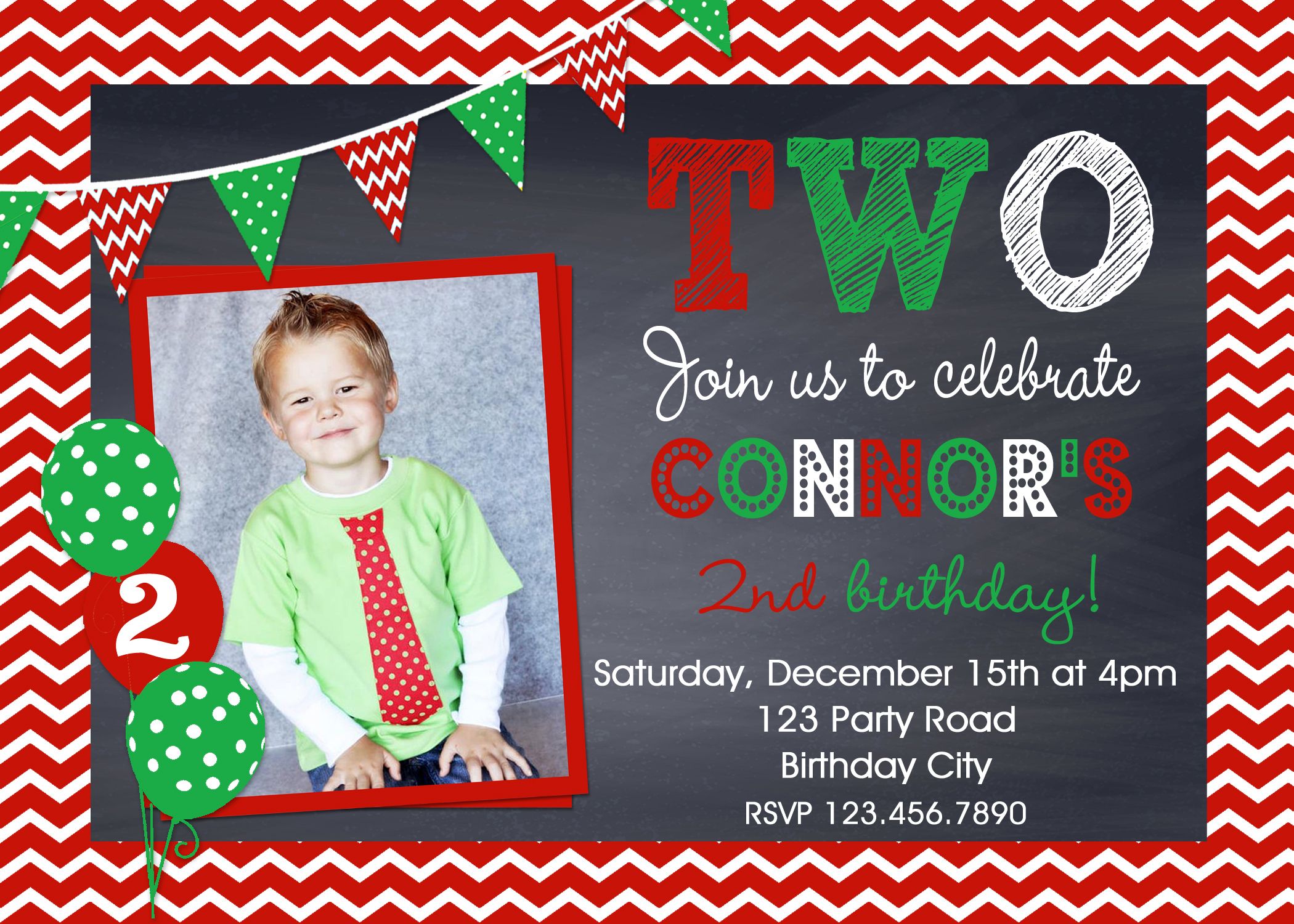 Printable Birthday Invitations Little Boys Christmas Birthday