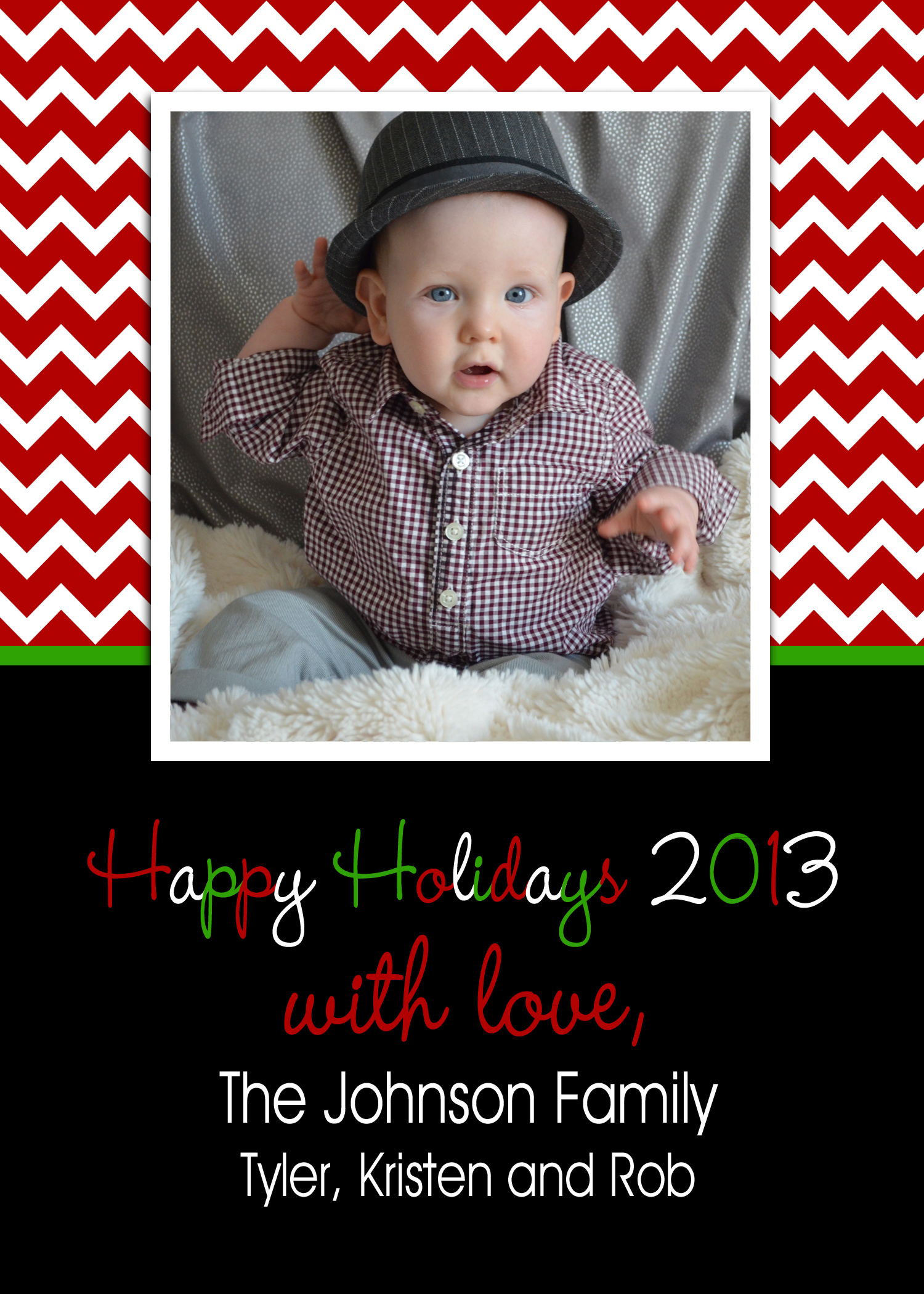 custom photo holiday card print your own personalized christmas cards
