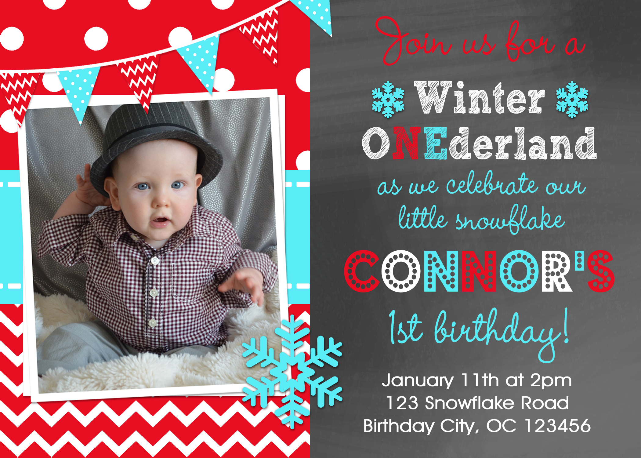 Printable Birthday Invitations Little Boys Winter Birthday Party