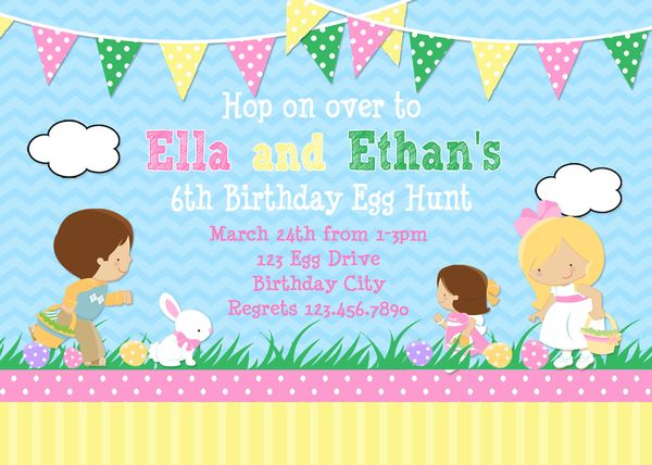 Printable Invitations Easter Egg Hunt Party