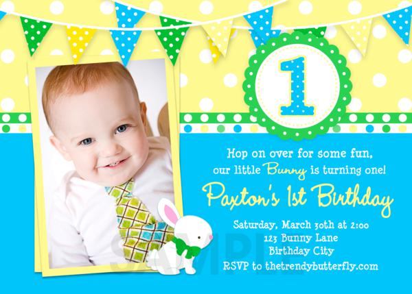 Printable Birthday Invitations Girls Easter Spring First Party