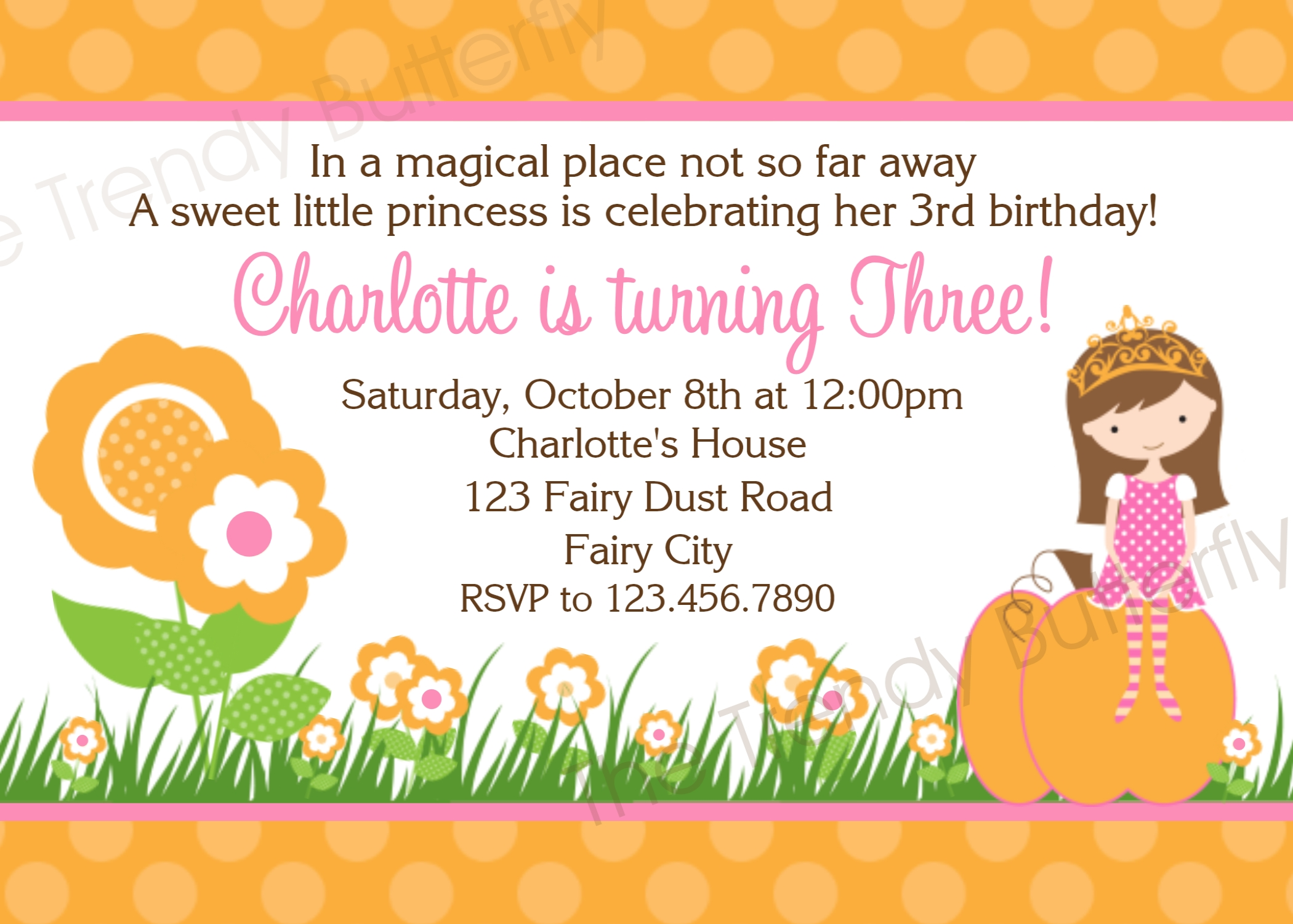 Printable Birthday Invitations, Girls Fall Autumn Party,