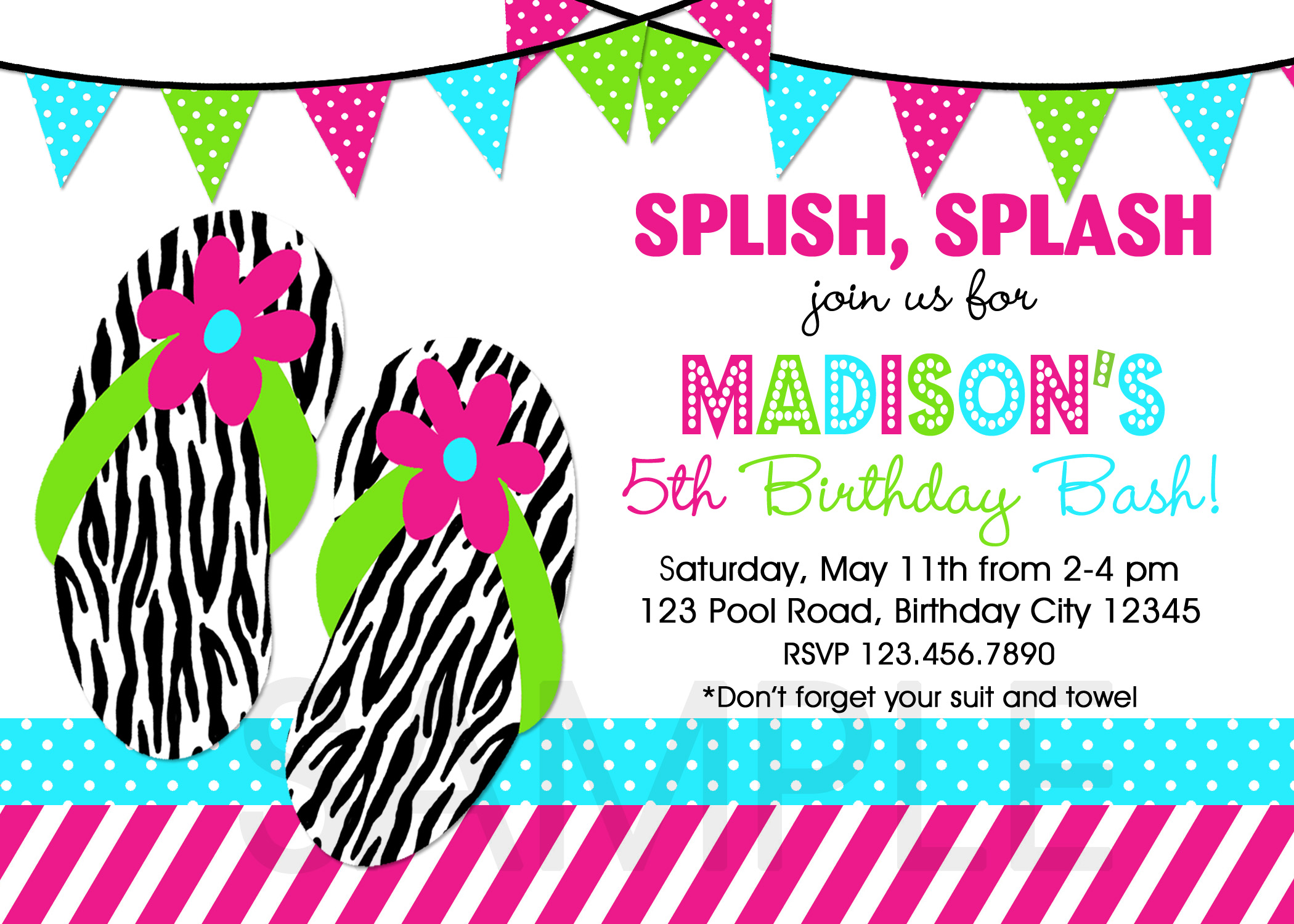 girls birthday invitation - Girl Birthday Party Invitations