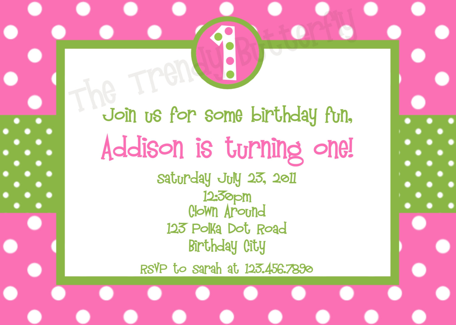 printable birthday invitations polka dot birthday party