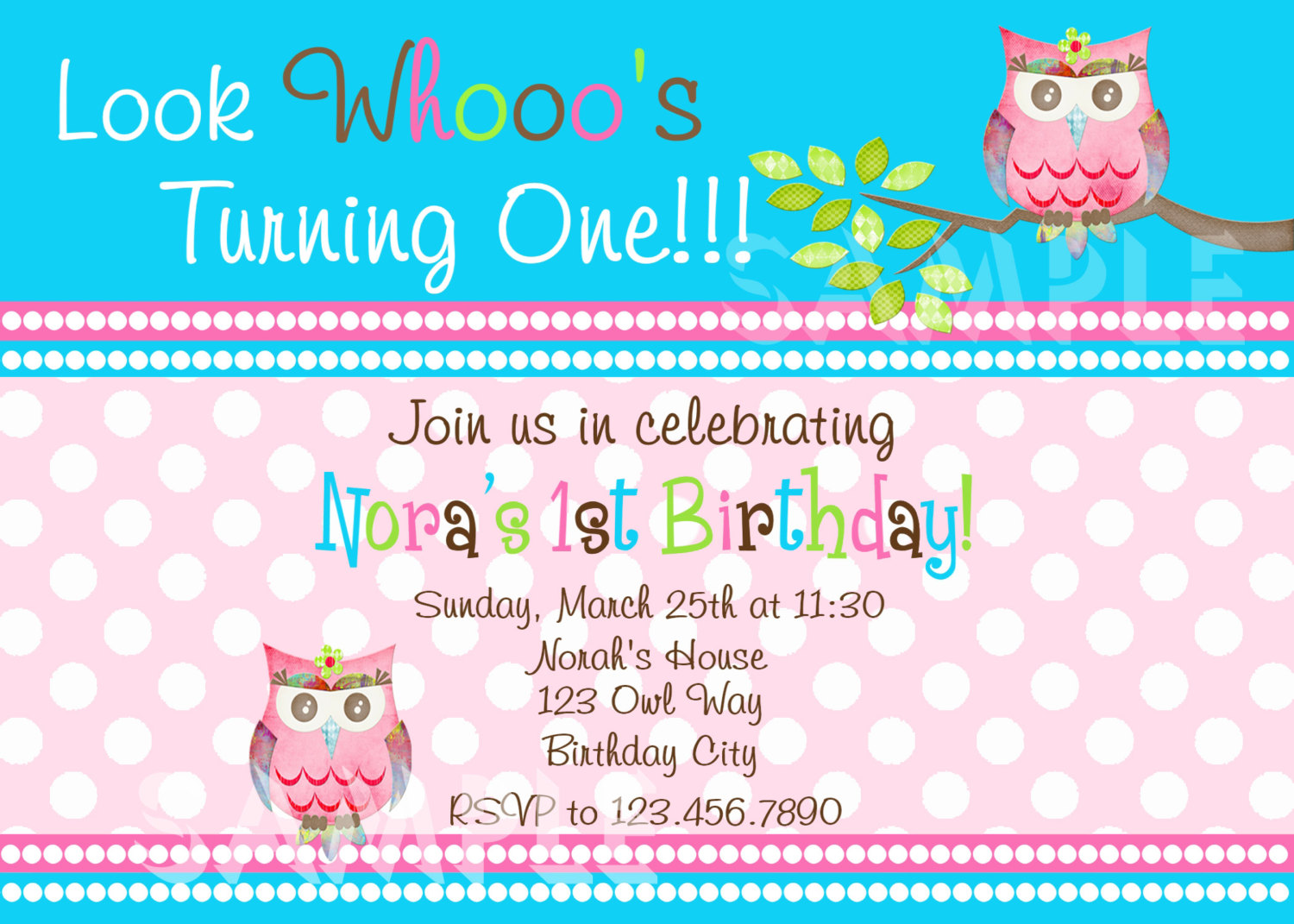 Delighted first birthday owl invitations contemporary invitation printable 1st birthday invitations girls owl party photo invitation filmwisefo Image collections