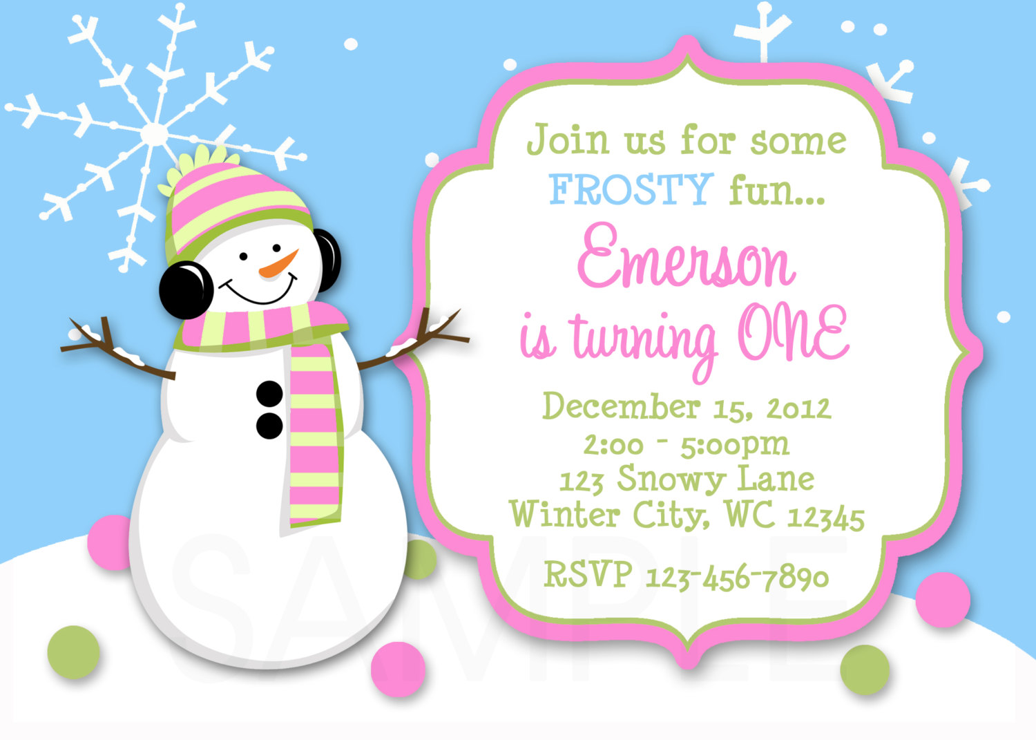 birthday invitations winter 1st birthday invitation snowman invitation