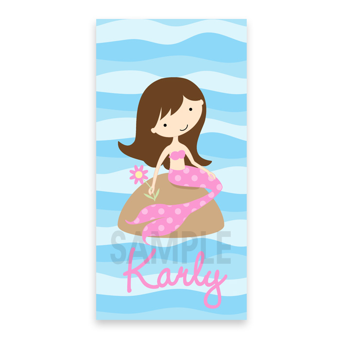 personalized beach towel for kids mermaid towel personalized