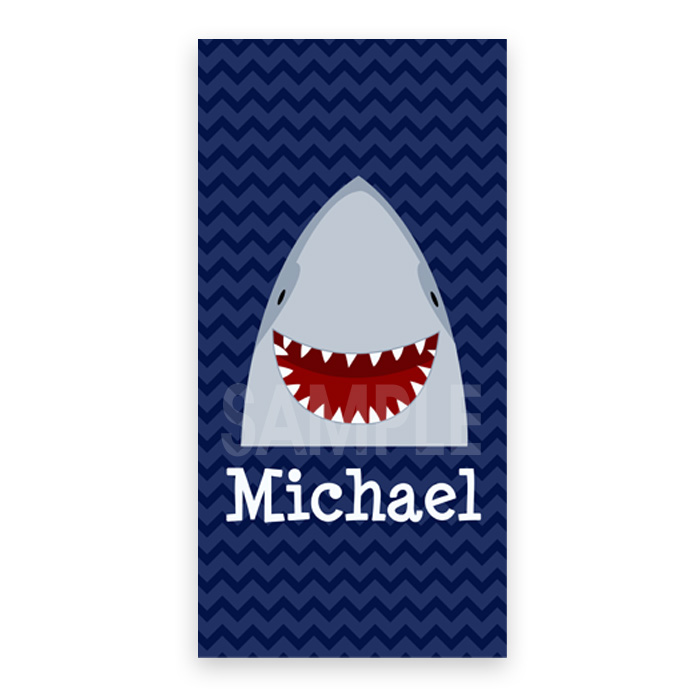 Personalized Beach Towel For Kids Shark Towel