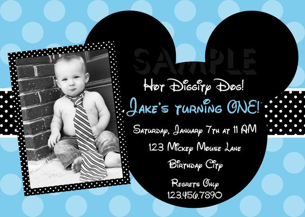 blue birthday invitations