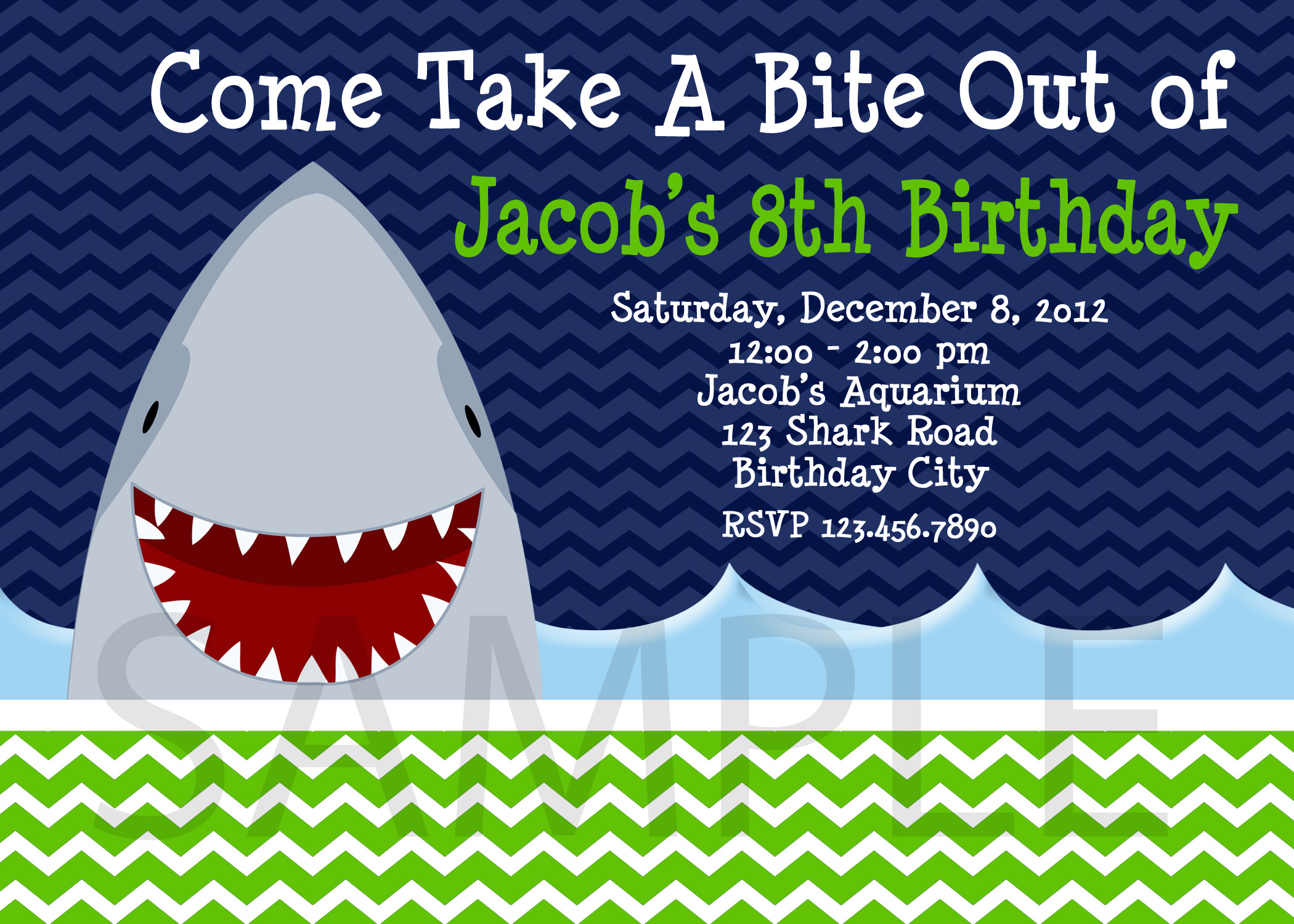 Shark Birthday Party Invitations Shark Invite Beach Shark Party – Shark Invitations Birthday Party