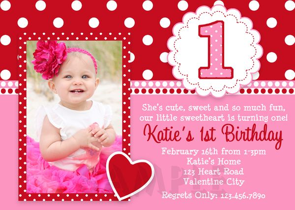 Printable Birthday Invitations Girls ValentineS Birthday Party