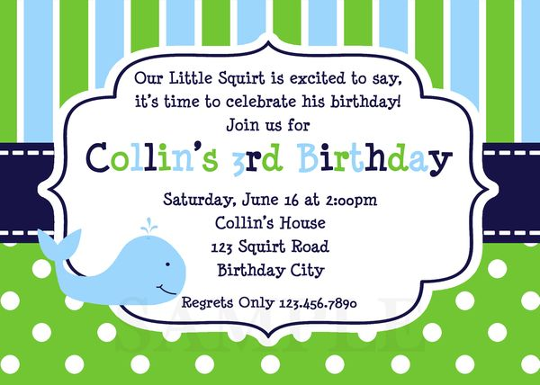 Printable Birthday Invitations Little Boys Party Invites