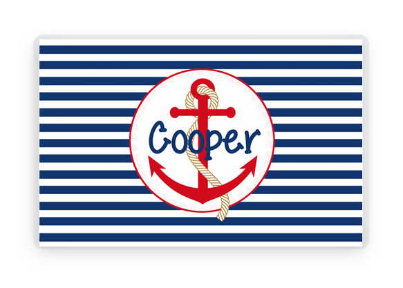 Nautical Anchor Placemat Kids Placemat Beach Anchor