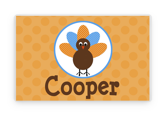 Personalized Thanksgiving Placemat Laminated Placemat