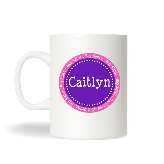 Big Sister Gift Mug Childrens Personalized Drinking