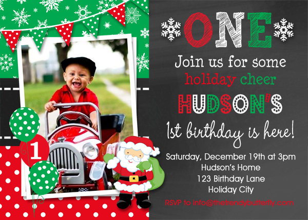 christmas birthday invitation christmas birthday invitation 1st