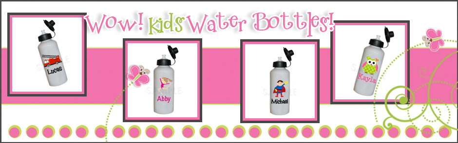 Kids Personalized Water Bottles, Personalized Water Bottles, BPA Free Waterbottles, Custom Waterbottles