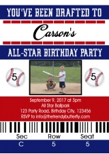 Baseball Birthday Invitation, Baseball Ticket Party Invitation, Baseball Birthday Party, Baseball Ticket, Kids Birthday Invitations