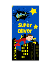 Boys Super Hero Towel, Personalized Superhero beach towel