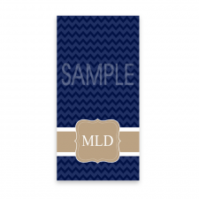 MLD Navy Chevron Towel