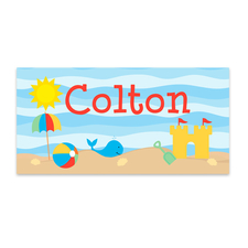 Boys Personalized Summer Beach Towel
