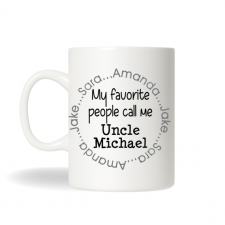 Personalized Uncle Mug, Aunt Gift , Favorite Uncle Gift, Brother Mug, Personalized Gift, Christmas Gift, Birthday Gift, Office Gifts