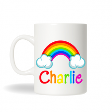 Rainbow Mug, Personalized Rainbow Cup, Kids Personalized Mugs, Rainbow Cup, Rainbow Gift
