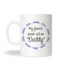 Personalized Coffee Mug, Personalized Daddy Mug, Coffee Mug for Dad, Gift for Dad, Fathers Day Gift, Christmas Gift, Birthday Gift