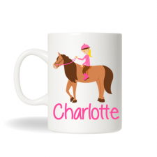 Equestrian Personalized Mug, Personalized Horseback Riding Mug, Horse Personalized Gift , Birthday Gift, Christmas Gift, Holiday Gift