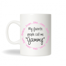 Grandmother Gammy Gift, Favorite Gammy Mug, Personalized Coffee Mug, Personalized Tea Mug, Personalized Cup