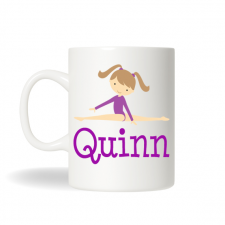 Gymnastics Mug, Gymnastics Personalized Cup, Hot Chocolate Mug, Childrens Personalized Gift , Birthday Gift, Christmas Gift, Holiday Gift