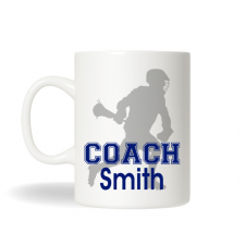 Lacrosse Player Coach Mug, Sports Coach Mug, Personalized Coffee Mug, Personalized Tea Mug, Personalized Cup