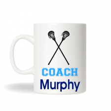 Lacrosse Coach Mug, Sports Coach Mug, Personalized Coffee Mug, Personalized Tea Mug, Personalized Cup