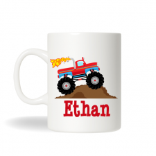 Monster Truck Personalized Mug , Childrens Personalized Drinking Mug , Kids Monster Truck,  Birthday Gift , Birthday Gift , Hot Chocolate Mug