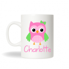 Children's Mug , Owl Mug, Personalized Tea Mug, Personalized Cup, Hot Chocolate Mug