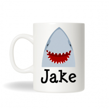 Shark Mug, Personalized Shark Cup, Hot Chocolate Mug, Childrens Personalized Gift , Birthday Gift, Christmas Gift, Holiday Gift