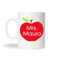 Personalized Teacher's Apple Mug, Teacher's Mug, Coffee Mug, Teacher's Coffee Mug , Birthday Gift, Christmas Gift, Holiday Gift