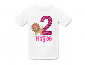 Girls Jungle Lion Birthday Shirt